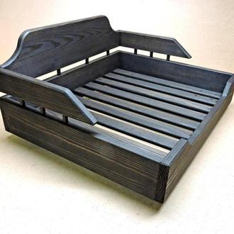 Лежак деревянный для собаки Алмейда 60х70 венге