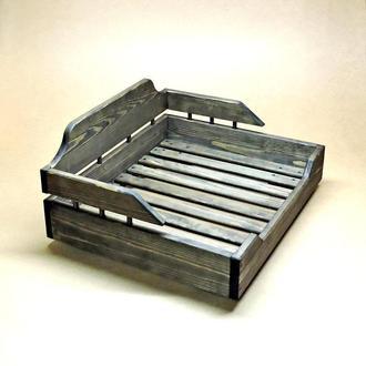 Лежак дерев'яний для собаки Алмейда 40х50 моріон