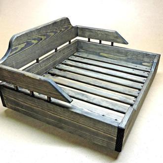 Лежак деревянный для собаки Алмейда 60х70 морион