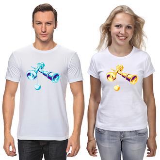 """ФП006685 Парні футболки з принтом """"Бильбоке (кендама)"""" Push IT"""