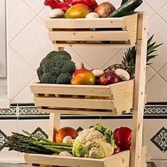 """Лоток для овощей и фруктов """"Кебедж"""" ваниль"""
