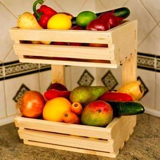 """Лоток для овощей и фруктов """"Цукини"""" ваниль"""