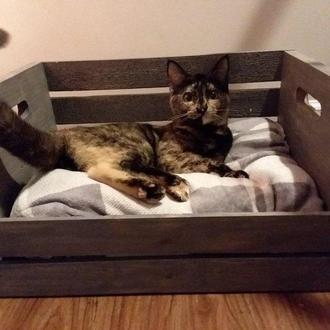 """Лежак для кошки """"Айрис"""" венге"""