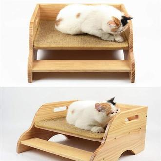 """Лежак для кішки """"Рамона"""" бланже"""