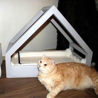 """Лежак для кошки """"Викси"""" зефир"""