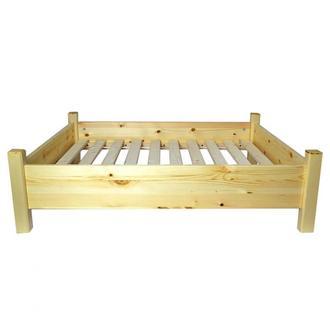 """Лежак деревянный для собаки """"Руммель 80х50"""" бланже"""
