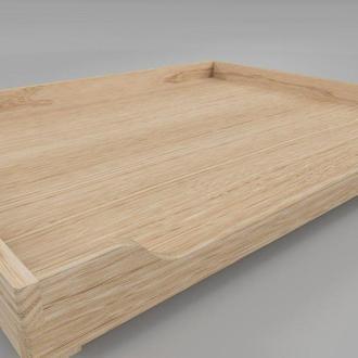 """Лежак деревянный для собаки """"Гротус 90х70"""" бланже"""