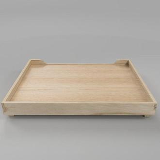 """Лежак деревянный для собаки """"Гротус 80х60"""" бланже"""