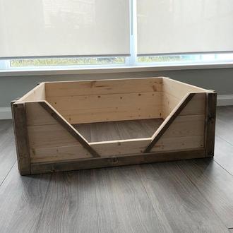 """Лежак деревянный для собаки """"Карпелан 80х60"""" бланже"""
