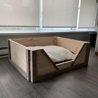 """Лежак деревянный для собаки """"Карпелан 70х50"""" бланже"""
