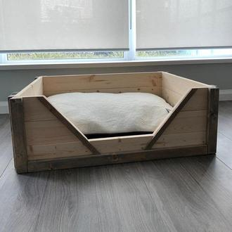 """Лежак дерев'яний для собаки """"Карпелан 60х45"""" бланже"""