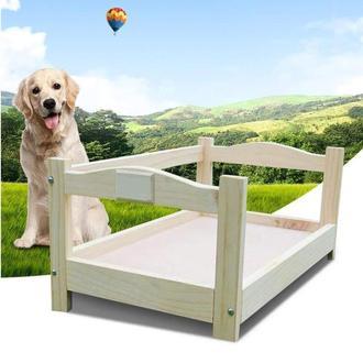 """Лежак деревянный для собаки """"Рамзай 50х30"""" бланже"""
