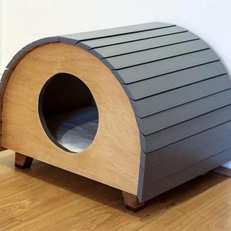 """Будиночок для кішки """"Сандра"""" графіт"""