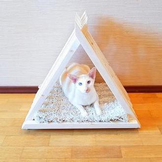 """Домик для кошки """"Борман"""" зефир"""