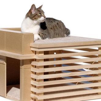 """Будиночок для кішки """"Шварц"""" ваніль"""