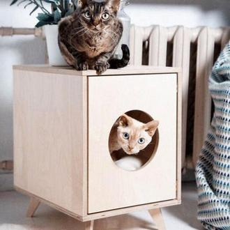 "Домик для кошки ""Ютана"" бланже"