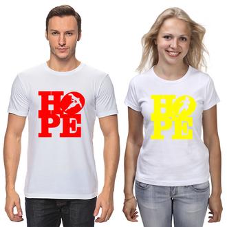 "ФП006688 Парні футболки з принтом ""Hope"" Push IT"