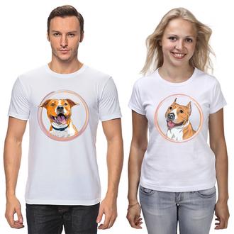 """ФП006693 Парні футболки з принтом """"Собаки"""" Push IT"""