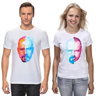 """ФП006696 Парні футболки з принтом """"Хайзенберг"""" Push IT"""