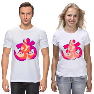 """ФП006712 Парні футболки з принтом """"Парна йога з Го"""" Push IT"""