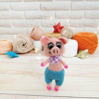 Брелок свинка, мягкая игрушка-брелок свинка ручной работы