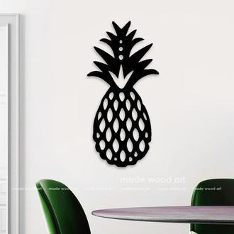 "Деревянная картина - панно ""Pineapple"""