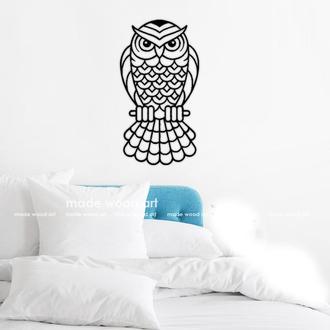 """Деревянная картина-панно """"OWL"""""""