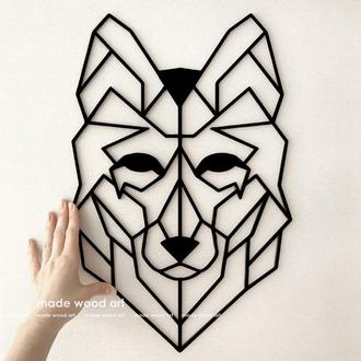 "Деревянная картина-панно ""WOLF"""