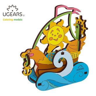Деревянная раскраска Ugears «Парусник»
