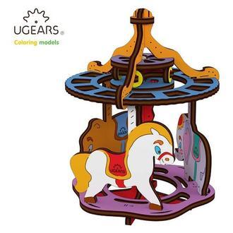 Деревянная раскраска Ugears «Карусель»