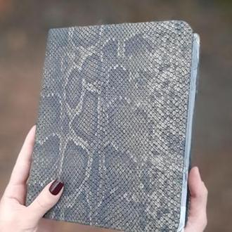 Блокнот формата А5 со сменными блоками натуральная кожа
