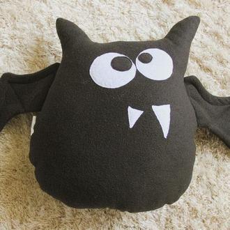 Подушка-игрушка «Летучая мышка», РУЧНАЯ РАБОТА, подарок