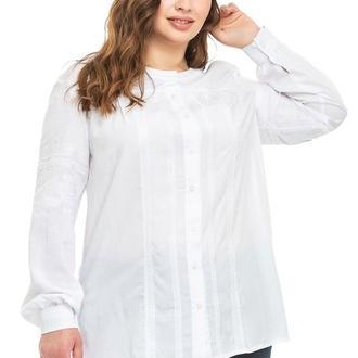 Блуза женская Марта (штапель белый)