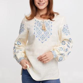 Блуза женская Ясмина (лен молочный)
