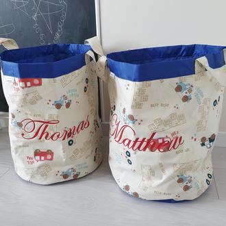 Текстильная корзина для игрушек Transport