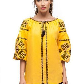 Блуза женская Світодара (лен желтый)