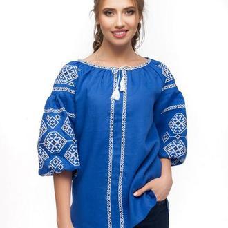 Блуза женская Світодара (синий лен)