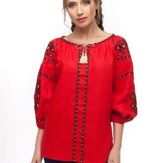 Блуза женская Світодара (лен красный)