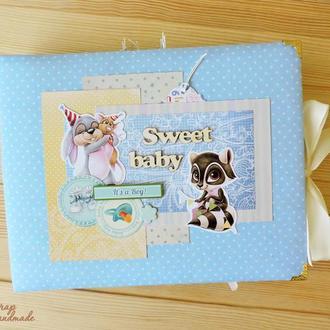 Детский фотоальбом для новорожденного мальчика Sweet Baby
