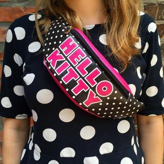 Бананка Hello Kitty, поясная сумка, сумка на пояс, DeadPool