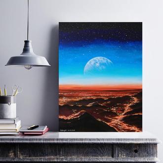 Картина акрилом «Вечір», 30х40 см