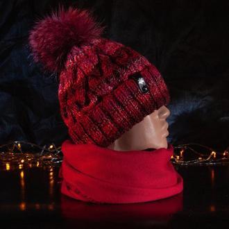 Шапочка з косами Red
