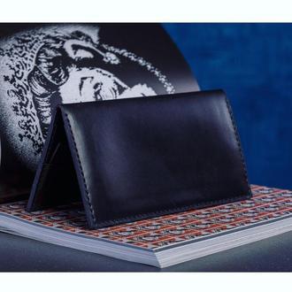 Кожаный портмоне черного цвета, стильный мужской кошелек, клатч, итальянская кожа