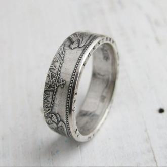 Кольцо из монеты 2 кроны Венгрия (Серебро )