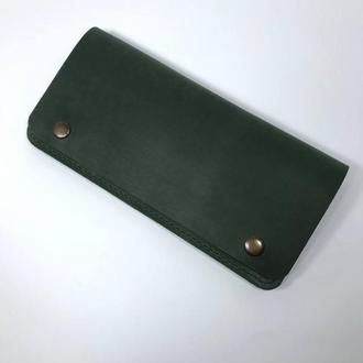 "Кожаный кошелек ""Manchester"" зеленый."