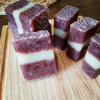 Натуральне мило  RED VELVET SOAP /  Запах сандалового дерева, без кокосового масла
