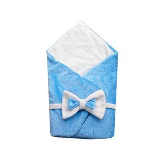 Конверт для новорожденного зимний  на выписку из роддома с бантом