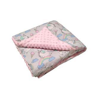 Одеяло детское зимнее утепленное плюш Minky