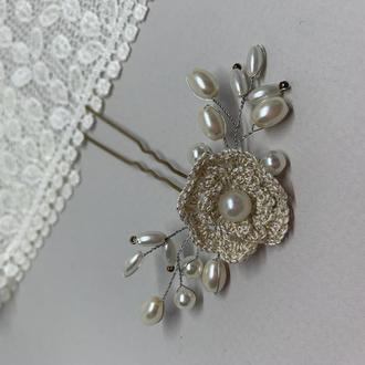 Шпилька для волос для невесты, Свадебная шпилька, украшение в волосы, подарочная упаковка