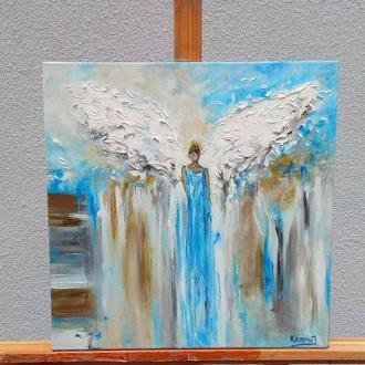 картина акрилом Ангел